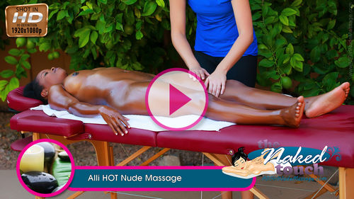 Alli in HOT Nude Massage