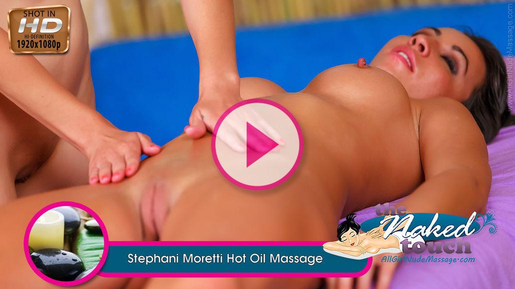 Stephani Moretti in Hot Oil Massage