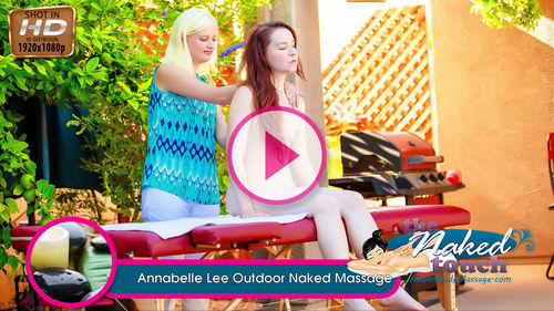 Annabelle Lee in Outdoor Naked Massage